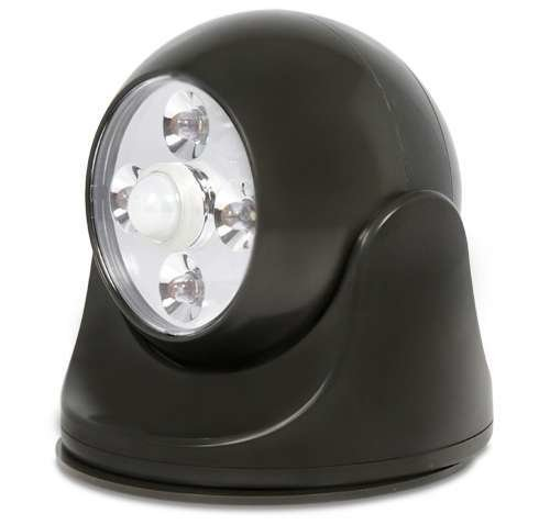 Maxsa Safety Light - 4LED Bulb - Adjustable, Motion-activated, Swivel Head, Weather Proof - Dark Bronze