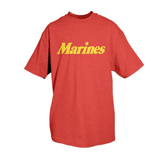 Fox Outdoor 64-625 XXL Marines One-Sided Imprinted T-Shirt, Red - 2X Large - image 1 de 1