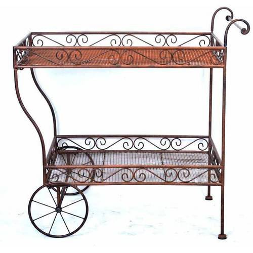Deer Park Steel Imperial Serving Cart, Natural by Deer Park Ironworks