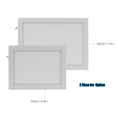 A5 Ultra Bright LED Light Box Tracing Pad Therapy Energy Lamp 25000 Lux Stepless Dimming Drawing Artcraft Board with Dimmer for Children Students Artists Sketching Animation Stencilling SAD
