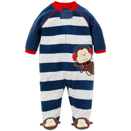 179ce5ad8d09 Little Me - Little Me Monkey Blanket Sleeper Warm Fleece Footie ...