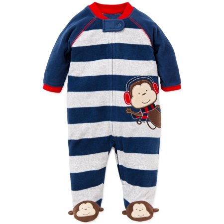f13f04bce674 Little Me - Little Me Monkey Blanket Sleeper Warm Fleece Footie ...
