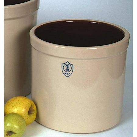 Ohio Stoneware 02436 2 gallon Bristol Crock, Small, (Small White Stoneware)