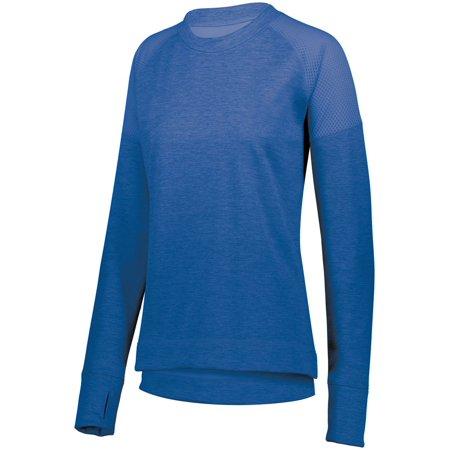 Aqua Pullover (Augusta Sportswear XS Womens Zoe Tonal Heather Pullover Light Lavender 5575 )