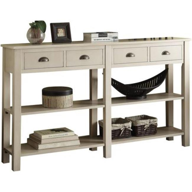 Blue, Benjara Benzara Wooden Console Table with Three Drawers
