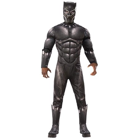 Marvel Black Panther Movie Mens Deluxe Black Panther Muscle Chest Halloween - Best Gypsy Costume