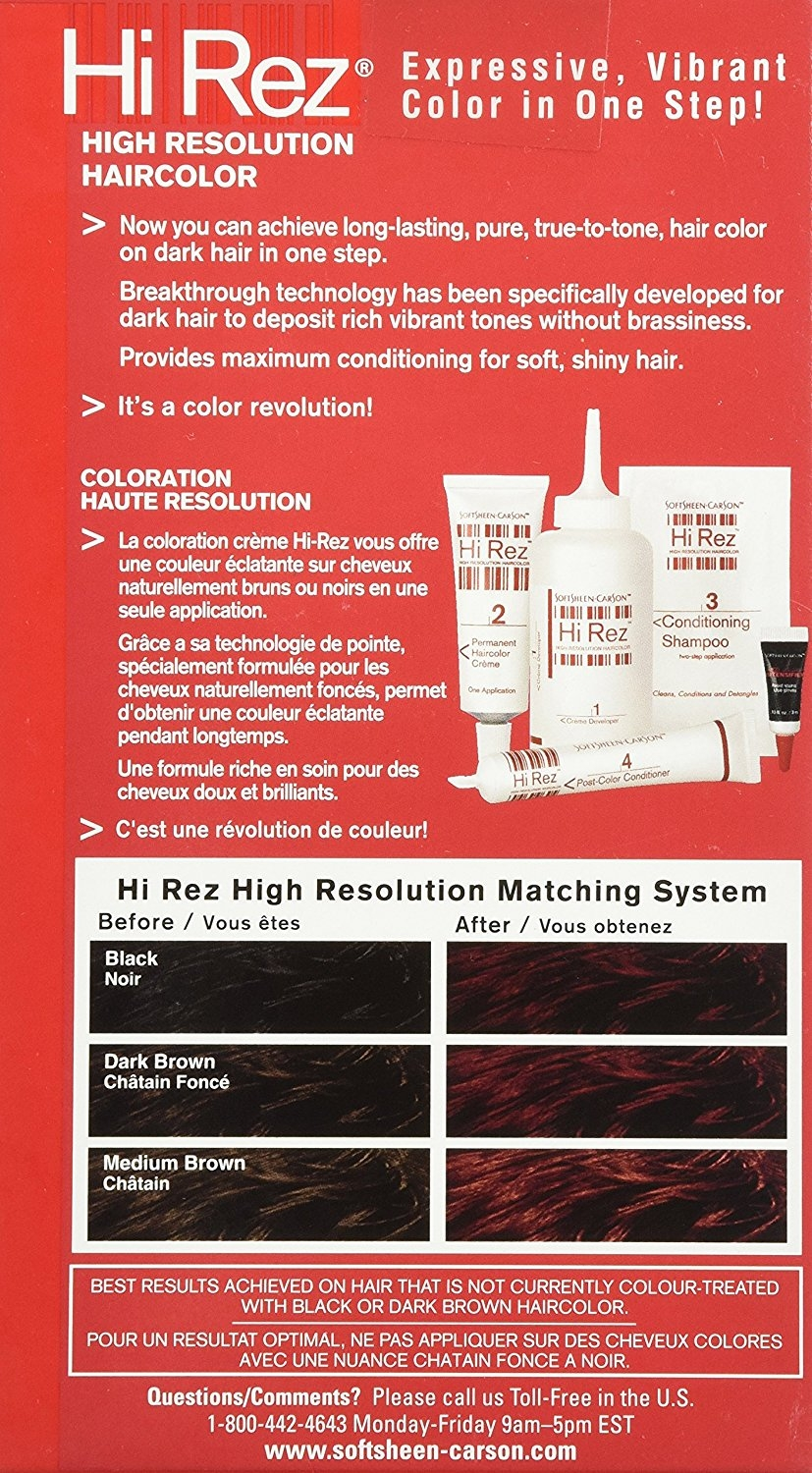 Soft Sheen Carson Hi Rez Permanent Haircolor 1 Ea Walmart