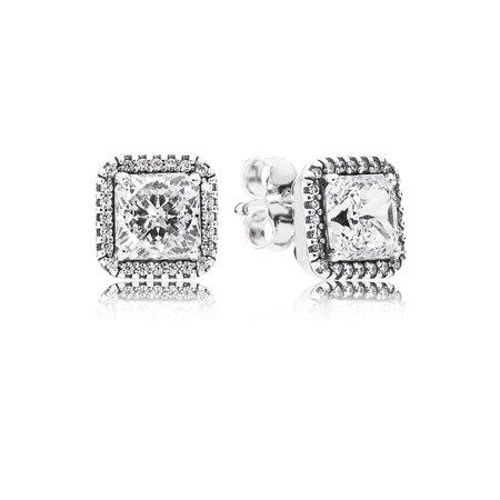 Pandora Timeless Elegance, Clear CZ Earring 290591CZ