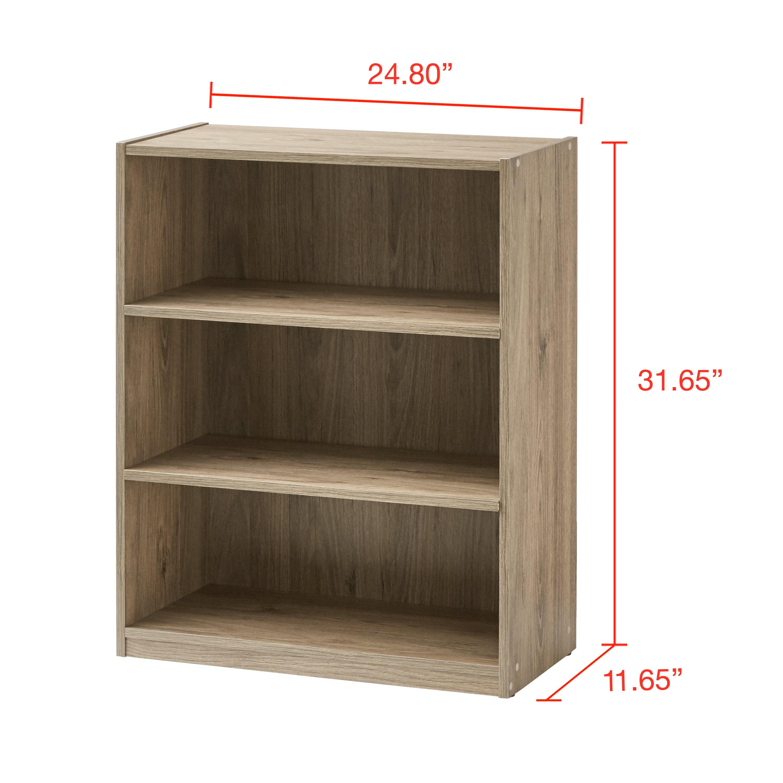 """Mainstays 31"""" 3 Shelf Bookcase, Black - Walmart.com - Walmart.com"""