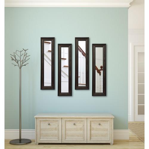 Charlton Home 4 Piece Kincannon Brazilian Panels Mirror Set