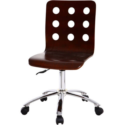 your zone perforated task chair, espresso