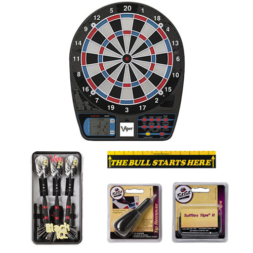 Viper 787 Electronic Dartboard with Viper Black Ice Darts and Accessory Set