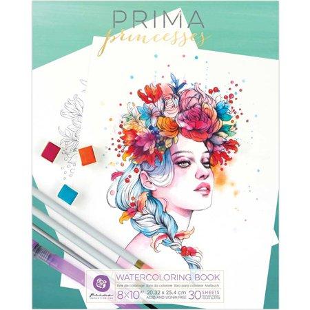 Prima Watercolor Coloring Book 8\