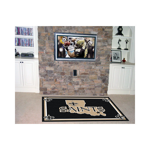 New Orleans Saints Area Rug - 5'x8'