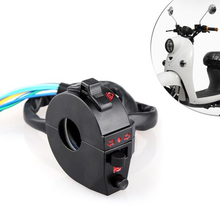 HURRISE Motorcycle Handlebar Horn High/Low Beam Turn Signal Switch Control Left Right Side, Handlebar Switch Control, Motorcycle Handlebar Switch Control