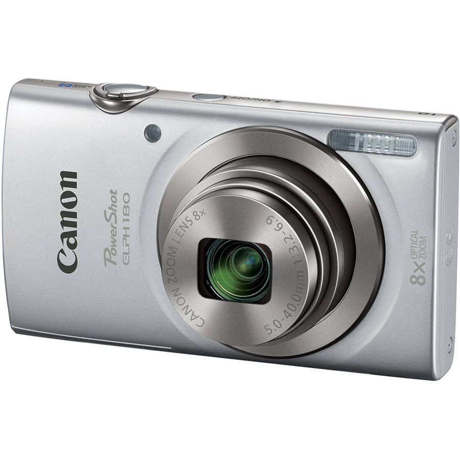 Canon Silver PowerShot ELPH 180 Digital Camera with 20 Megapixels and 8x Optical Zoom