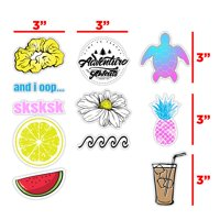 Vsco Stickers Pack Cute Aesthetic Stickers for Hydro Water Bottles Flask, Laptop, Computers, Notebook, Planner, Trendy, Scrapbooking - 11 Pack