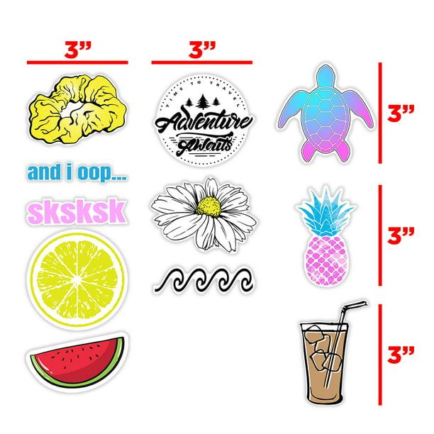 Vsco Stickers Pack Cute Aesthetic Stickers for Hydro Water ...