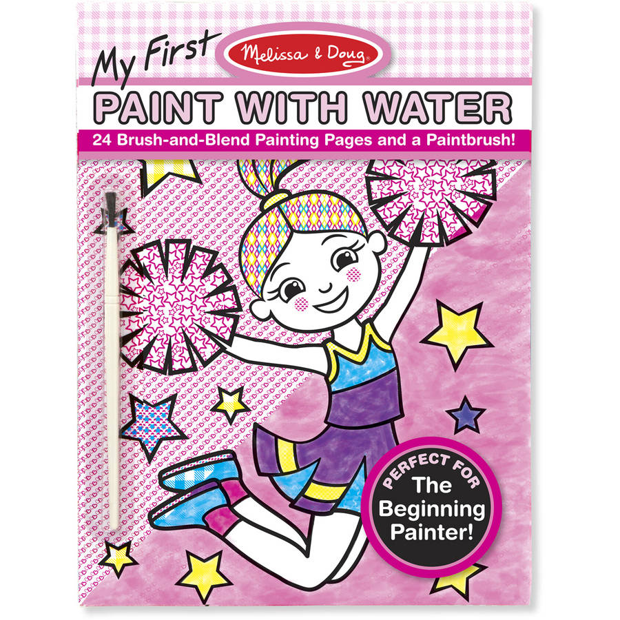Melissa & Doug My First Paint with Water Art Pad, Cheerleaders, Flowers, Fairies, and... by Generic