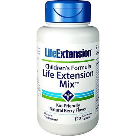 Life Extension Children's Formula Mix 120 Chewable Tablets (Natural Berry (Formula Chewable Tablets)