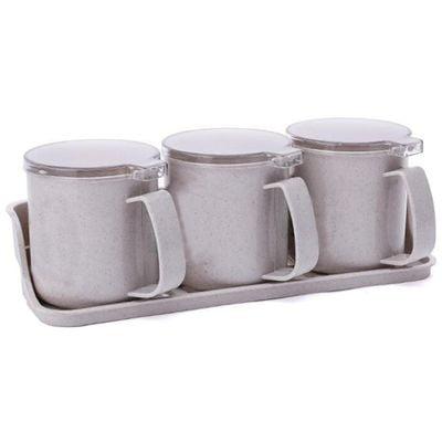 Halloween Condiment Set (Raypadula Kitchen Seasoning Box Set Spice Jars Condiment Sugar Salt Storage Container)