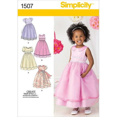 Simplicity Patterns Toddler's Dresses 6060 6060 60 Walmart Impressive Simplicity Patterns