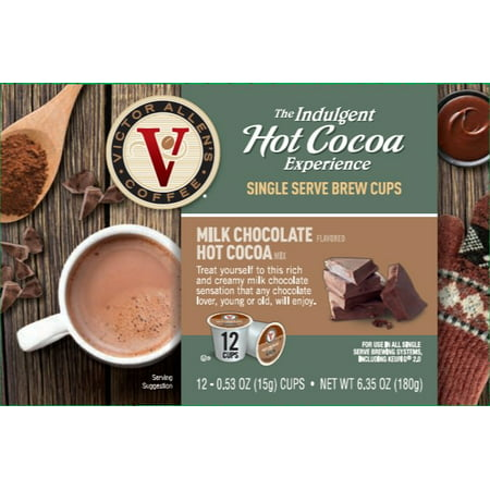 Victor Allen's Indulgent Hot Cocoa Experience Milk Chocolate K-Cup Cocoa Pods, 12 (Best K Cup Hot Chocolate)