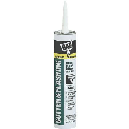 DAP 18182 10.1 oz. White Gutter and Flashing Sealant