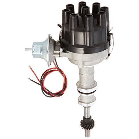 Pertronix D7134610 Flame-Thrower Black Cap Vacuum Advance Electronic Distributor With Ignitor Iii Technology For Ford 351w (Flamethrower Distributor)