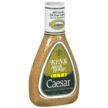 Kens Steak House Dressing   Marinade Lite Caesar  16 0 Fl Oz