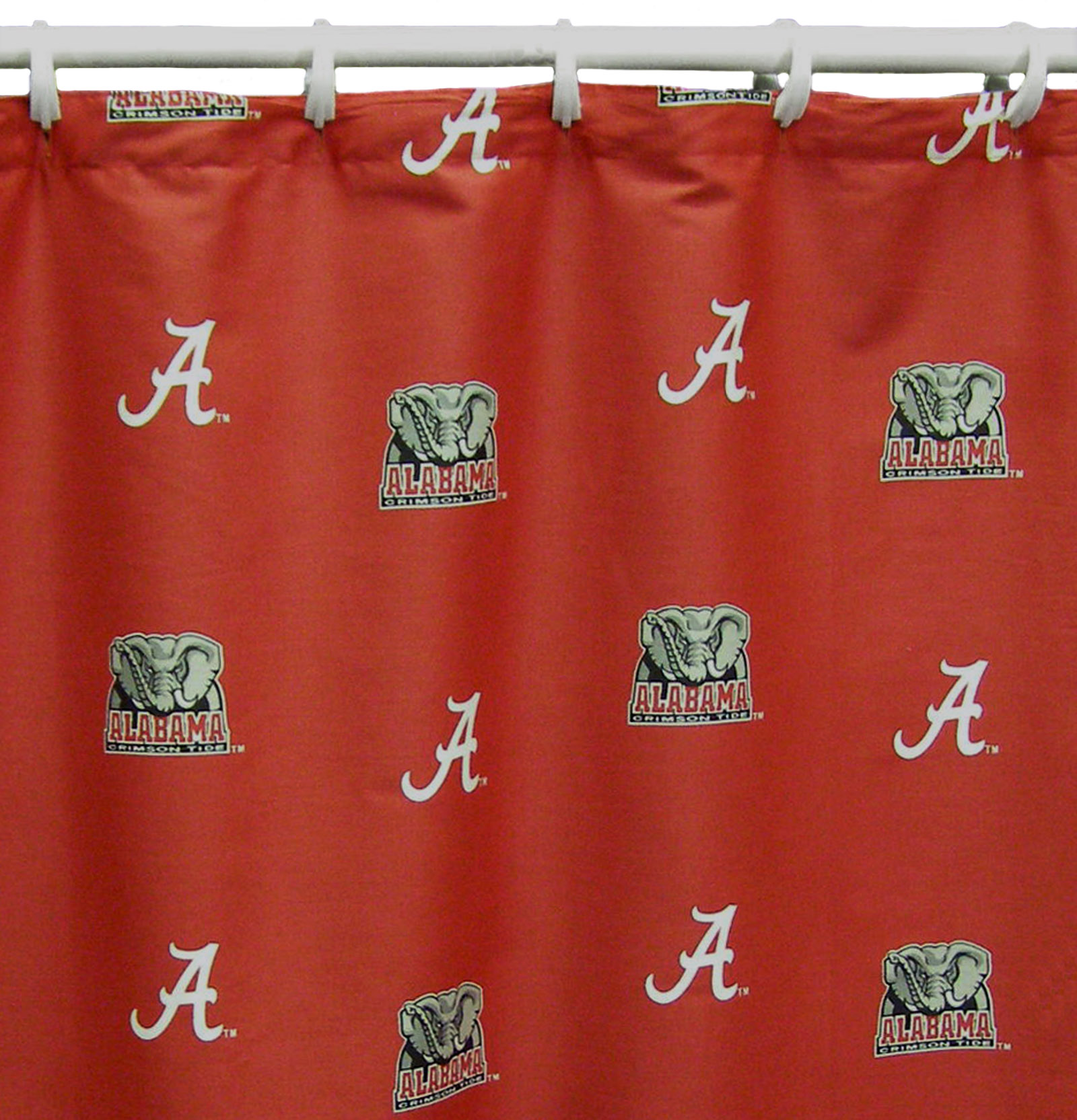 "College Covers NCAA Licensed Shower Curtain, 72"" x 70"""