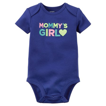 Carters Baby Clothing Outfit Girls Mommy's Girl Bodysuit Navy (Best Cheerleading Outfits)