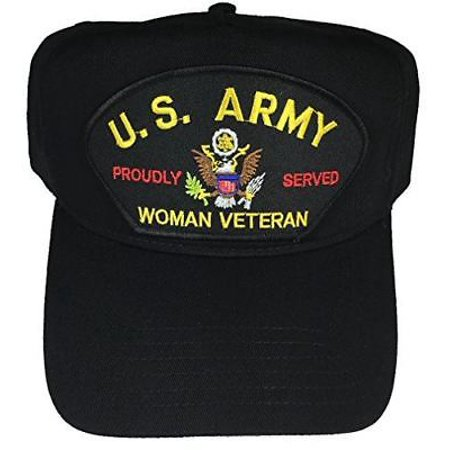 fc13a8a2bf0 HatnPatch - US ARMY WOMAN VETERAN PROUDLY SERVED HAT CAP FEMALE SOLDIER  PRIDE VET - Walmart.com