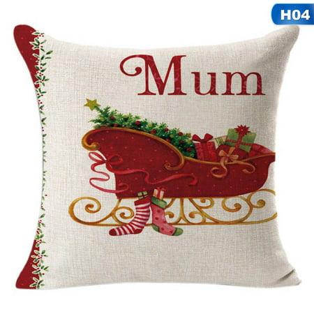 SHOPFIVE Hot Sale 1Pcs Merry Christmas Pillow Cover Decorations For Home  Decorative Throw Pillow Cover