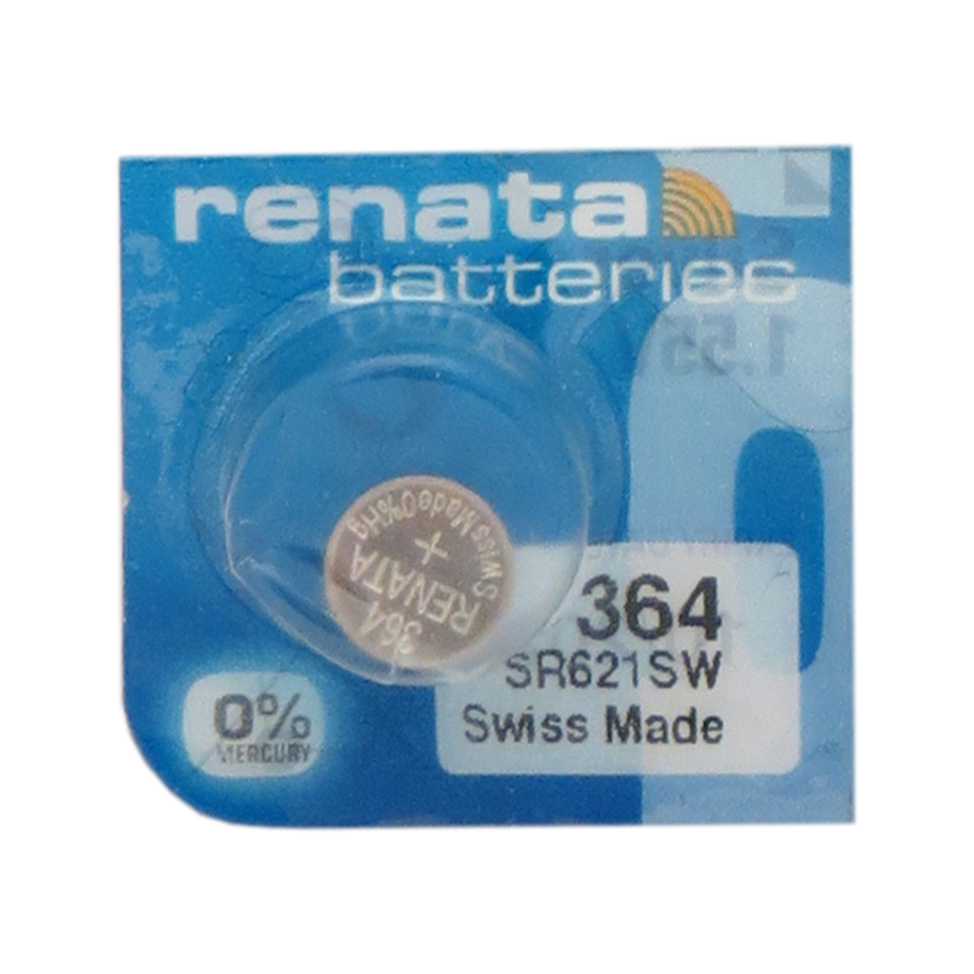 50 x 364 / SR621SW Renata Silver Oxide Button Batteries - image 1 of 1