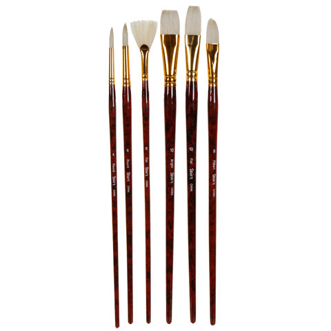 Darice Studio 71 - Bristle Brush Set - 6pcs