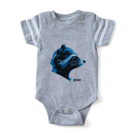 CafePress - Avengers Endgame Rocket - Cute Infant Baby Football Bodysuit - Baby Avengers