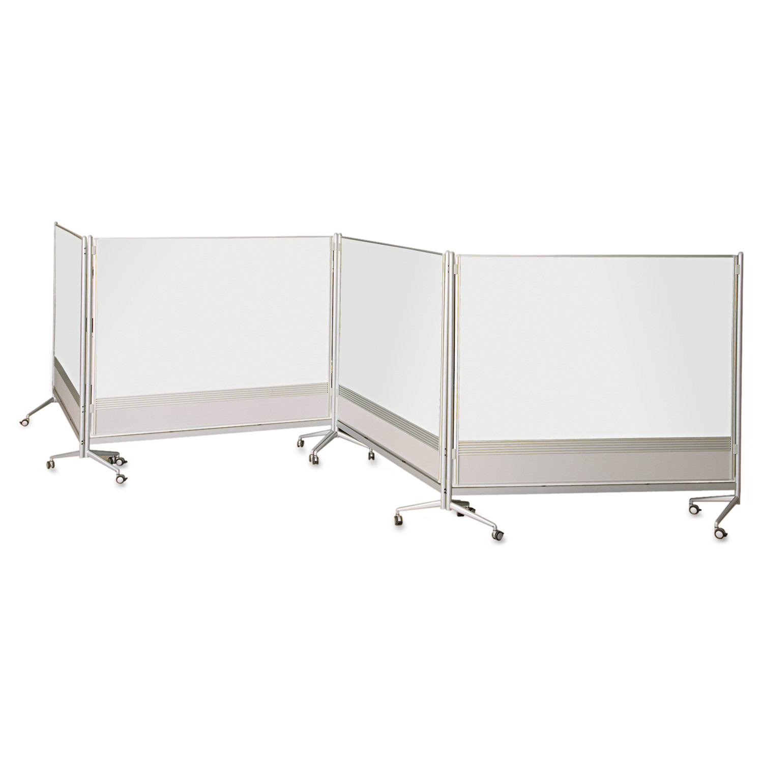 Best-Rite D.O.C. Mobile Double-Sided Marker Board Divider, 72 x 72, Silver by BALT INC.
