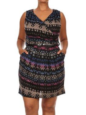 ef9997d2 Product Image Women's Plus Size Trendy Style Sleeveless Printed Short Dress