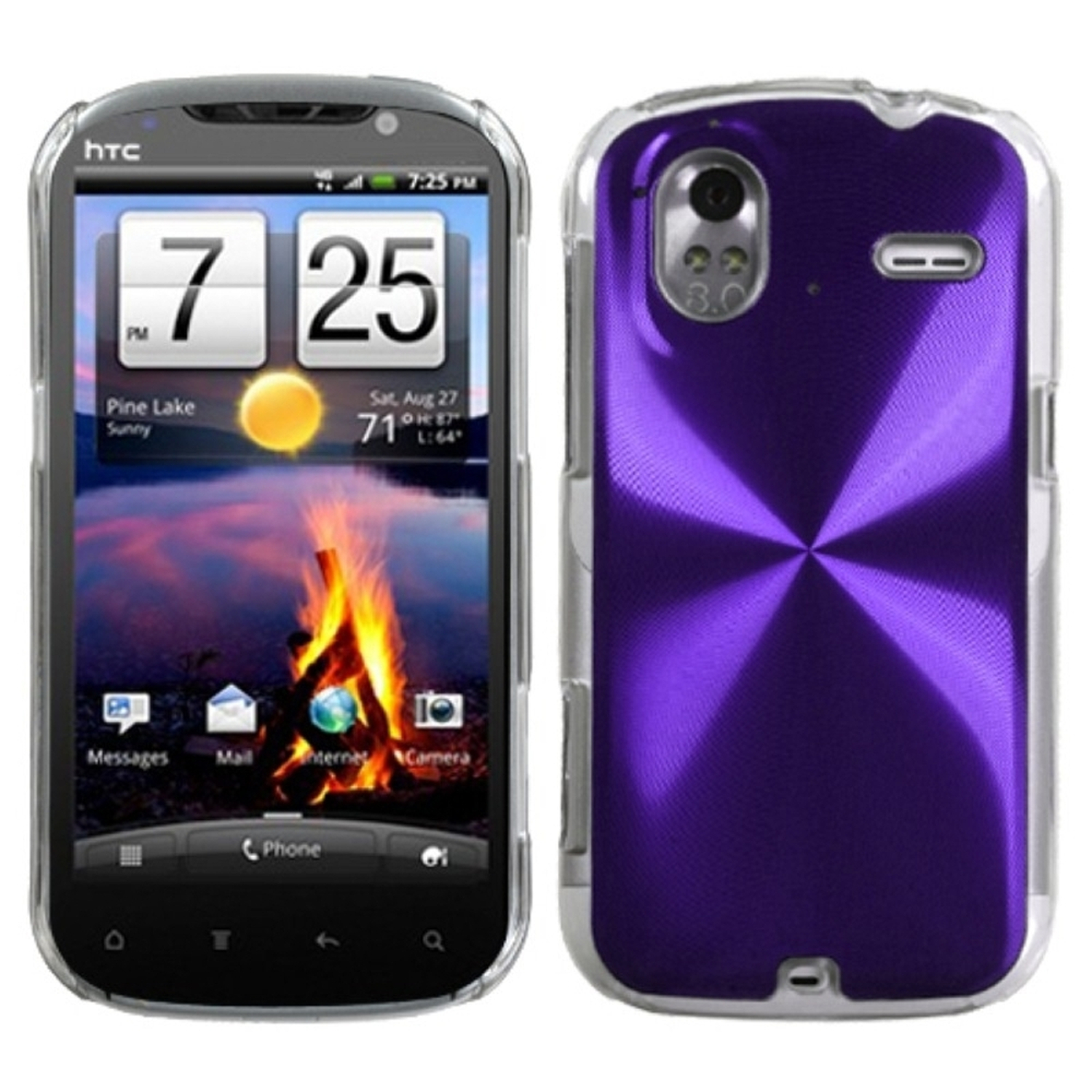 Insten Purple Cosmo Back Case for HTC: Amaze 4G