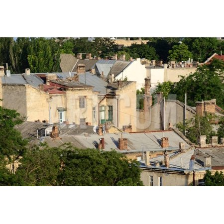 Roofs of Odessa Old Town, Famous European City in Eastern Europe,Ukraine, Unesco Heritage Print Wall Art By