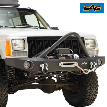 EAG Off-Road Front Bumper with Stinger - fits 84-01 Jeep Cherokee XJ