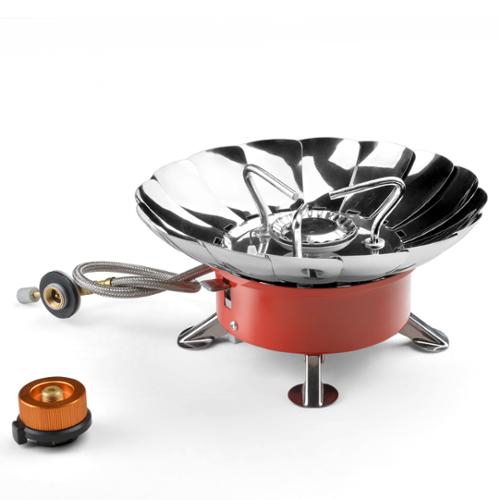 ODOLAND Portable Collapsible Windproof Outdoor Backpacking Camping Stove withPiezo Ignition