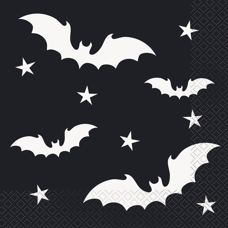 Black Bats Halloween Paper Luncheon Napkins, 6.5 in, 20ct