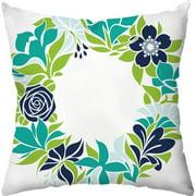 Checkerboard, Ltd Flower Garland Outdoor Throw Pillow