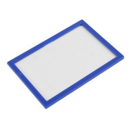 Blue Plastic Frame ID Card Holder Display Case Pouch Cover (Id Display)