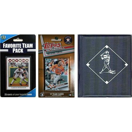 C & I Collectables MLB Houston Astros Licensed 2017 Topps Team Set and Favorite Player Trading Cards Plus Storage Album