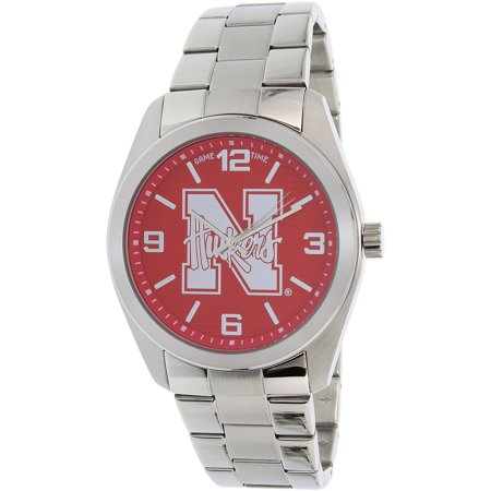 Gametime Men's Elite Nebraska Cornhuskers COL-ELI-NEB Silver Stainless-Steel Quartz Dress Watch