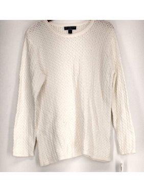 cef548ed0d Product Image Karen Scott Plus Size Sweater 0X Roll Neck Textured Sweater  Winter White