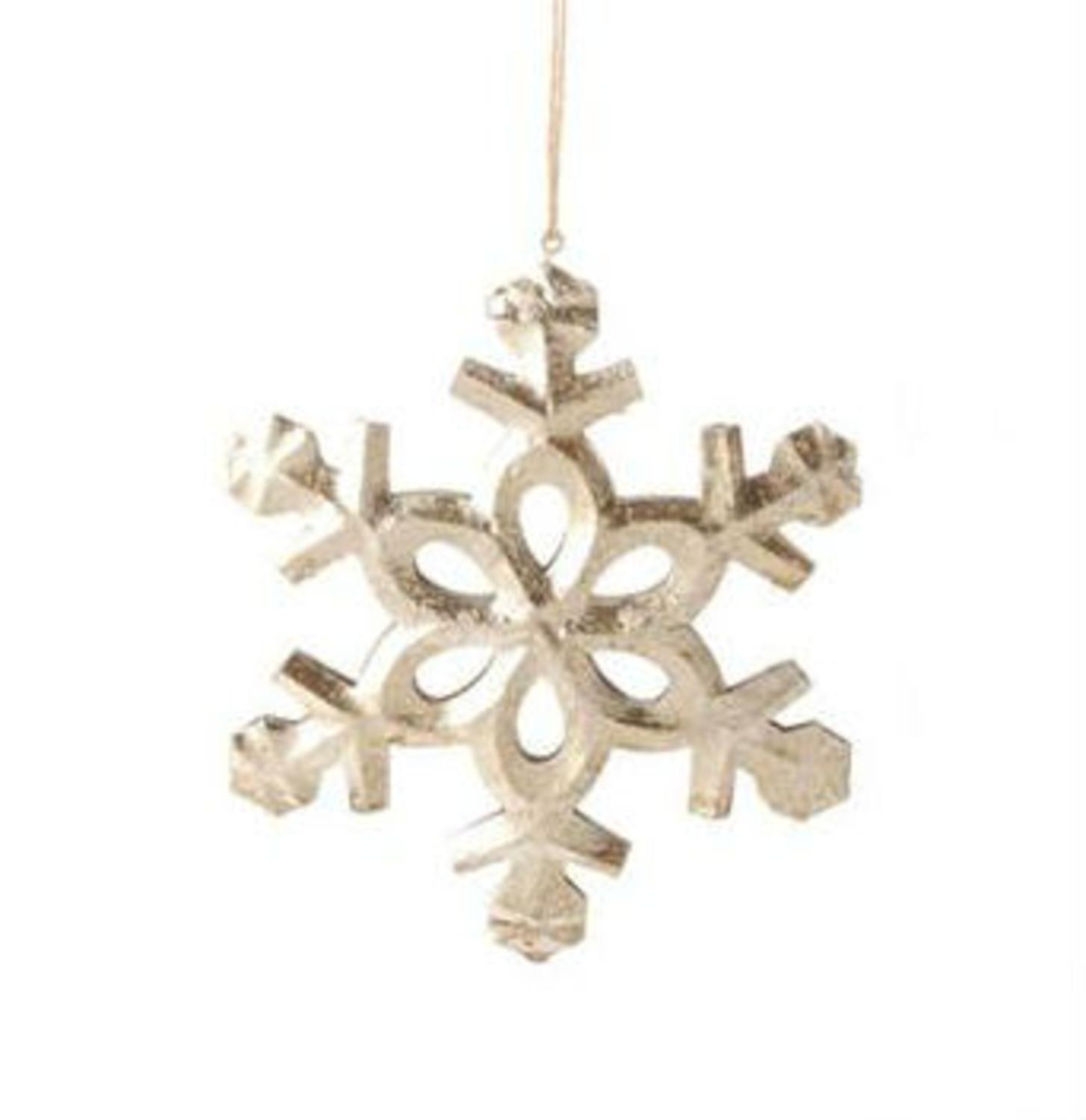 """Large Selection Of Raz Imports Decorations Ornaments And: Raz Imports 5"""" Antique-Style Speckled Tin Snowflake"""